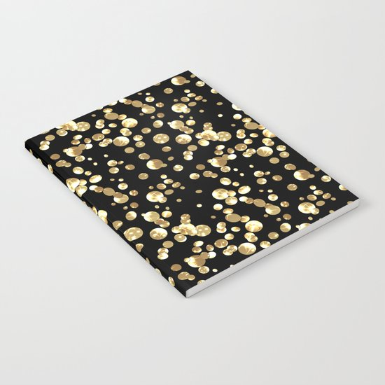 Golden confetti. Brilliant . Notebook