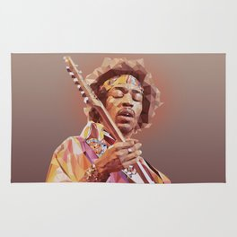 Jimi Hendrix Guitar God Rug