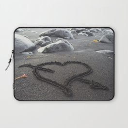Romance Down the Shore Laptop Sleeve