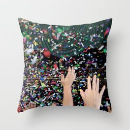 Confetti Hoorah (They Might Be Giants) Throw Pillow