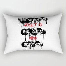 The Creative Adult Is The Child Who Survived Rectangular Pillow