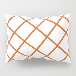 Caramel Drizzle Abstract Cross Hatch Pattern Pillow Sham