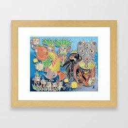 koi temple Framed Art Print