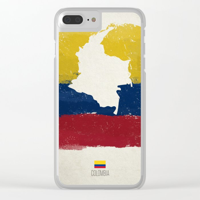 Viva Colombia Clear iPhone Case