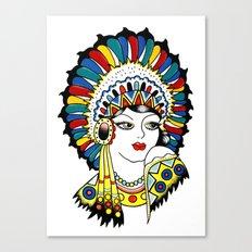 Traditional Tattoo Woman Canvas Print