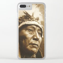 Chief Running Antelope - Native American Sioux Leader Clear iPhone Case