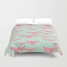 FINALLY! Whales are free from persecution! Duvet Cover