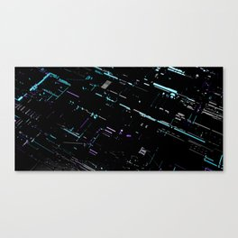 Engineering Technology Industry Background for Electronic Pattern Canvas Print