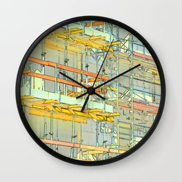 Construction site scaffolding in Berlin Wall Clock