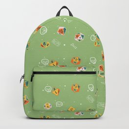 Dinosaur Dig Polyhedral Dice Pattern Backpack