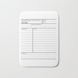 Cornell Notes Bath Mat