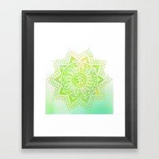 Aum lotus Framed Art Print