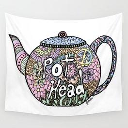 Tea Pot Head Wall Tapestry
