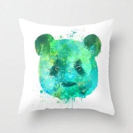 Watercolor Panda Painting Throw Pillow