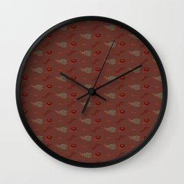 Herb Pattern Wall Clock