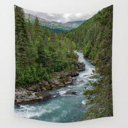 Alaska River Canyon - II Wall Tapestry