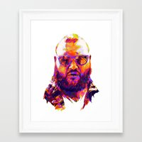 action bronson Framed Art Prints featuring ACTION BRONSON : NEXTGEN RAPPERS V2 by mergedvisible