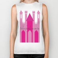 fairytale Biker Tanks featuring fairytale by Danielle J Design