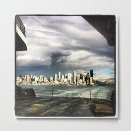 Seattle Ferry Boat Ride Metal Print