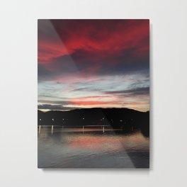 Floripa Red Sunset Metal Print
