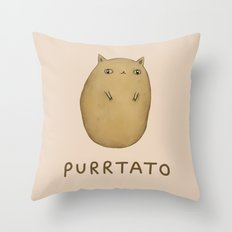 Purrtato Throw Pillow
