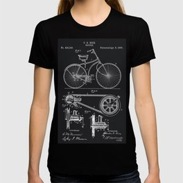 Vintage Bicycle patent illustration 1890 T-shirt