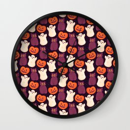 Halloween Marshmallows Wall Clock