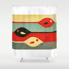 Three Fish in My Mind Shower Curtain