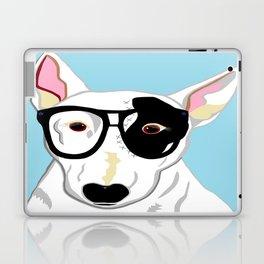 Hipster Bull Terrier Laptop & iPad Skin