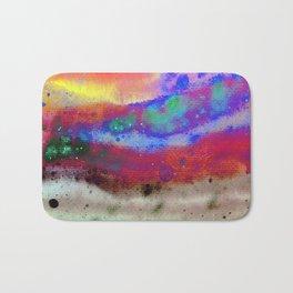 Kraft Paper Colorful Abstract Bath Mat