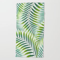 Palm leaves VI Beach Towel