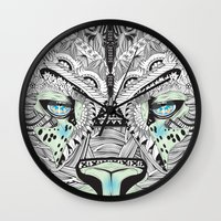 kit king Wall Clocks featuring Kit Mambo by eos vector