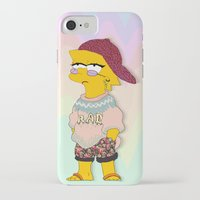 simpson iPhone & iPod Cases featuring chic lisa simpson by Sara Eshak