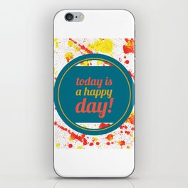 Happiness Quote iPhone Skin