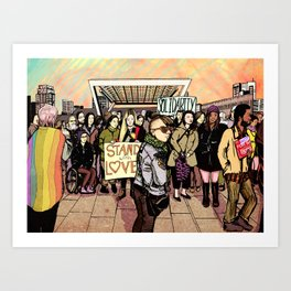 Love and Solidarity Art Print