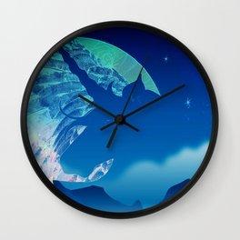 Unicorn Magic Mountain Moon Wall Clock