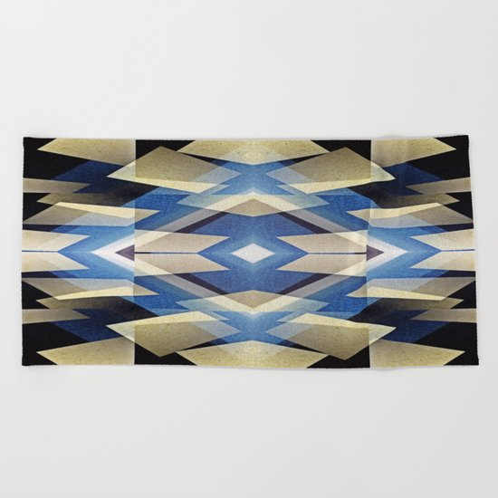 BlueStarNova Beach Towel