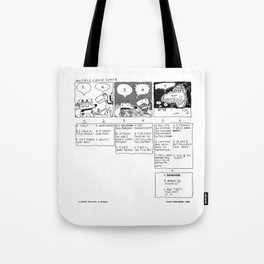 Multiple Choice Comics Tote Bag