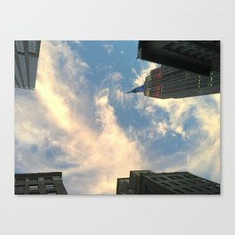 Looking up at Skyscrapers Canvas Print