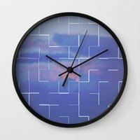 labyrinth Wall Clocks featuring Labyrinth by MJ Mor