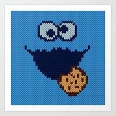 monster 'nom nom' knit Art Print