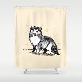 A Very Good Boy (Cream) Shower Curtain