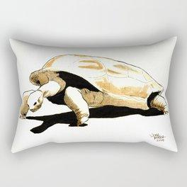 Shuffles the Aldabra Tortoise Rectangular Pillow