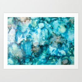 Blue Abstract Art Print