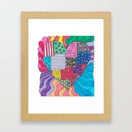 Patchwork Heart Framed Art Print