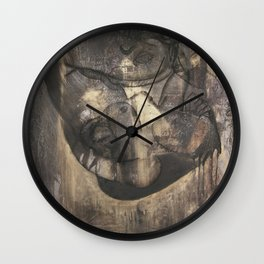 Women who run with wolves II. Bonewoman Wall Clock
