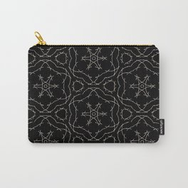 Antique Black and Gold Pattern Design Carry-All Pouch