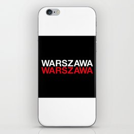 WARSAW iPhone Skin