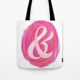 Thick Swirl Ampersand Warm Tote Bag