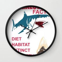 Megalodon Dinosaur Hai Lutig Flirt Fan Gift Wall Clock